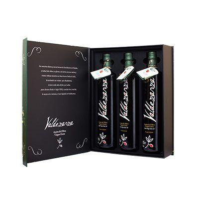 Estuche de 3 botellas, producto de la Finca Valdezarza.